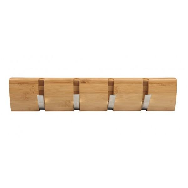 Patere en bambou a crochet retractable - Porte manteau bambou ...