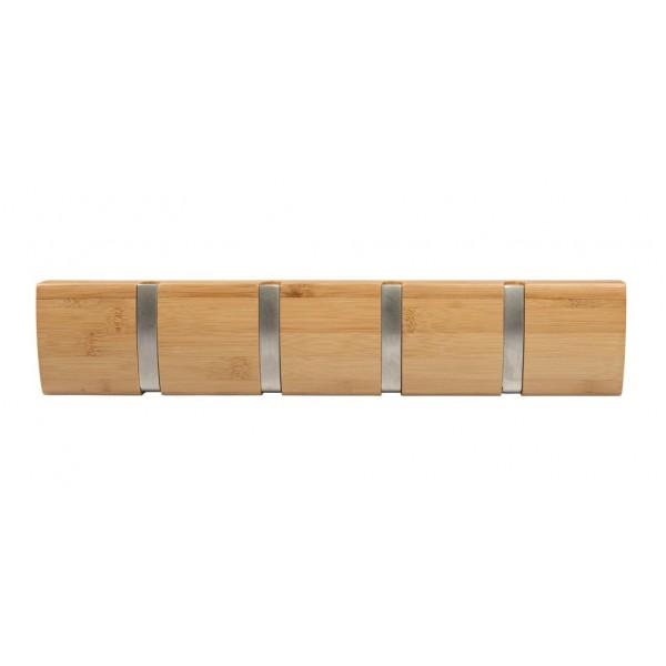 patere en bambou a crochet retractable. Black Bedroom Furniture Sets. Home Design Ideas
