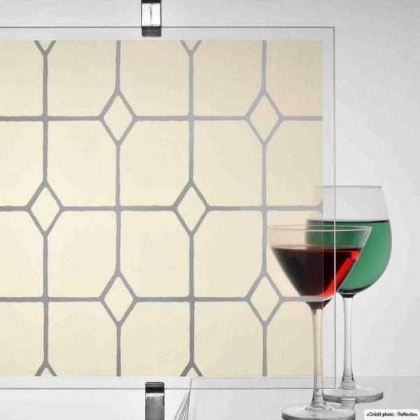 film adh sif d coration vitrail champagne. Black Bedroom Furniture Sets. Home Design Ideas